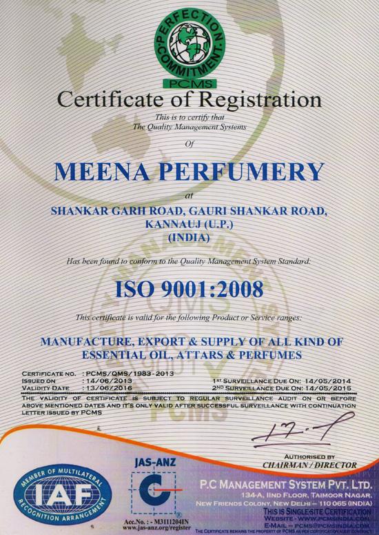 ISO Caertificate