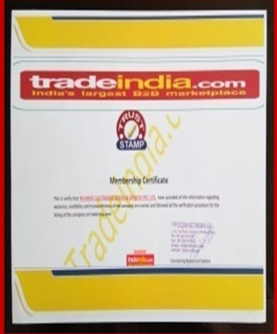 Certificate of Trade India Trust Stamp