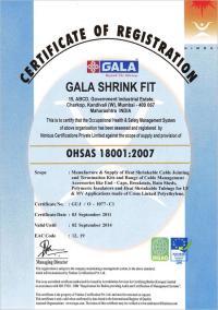 OHSAS-18001:2007 Certificate