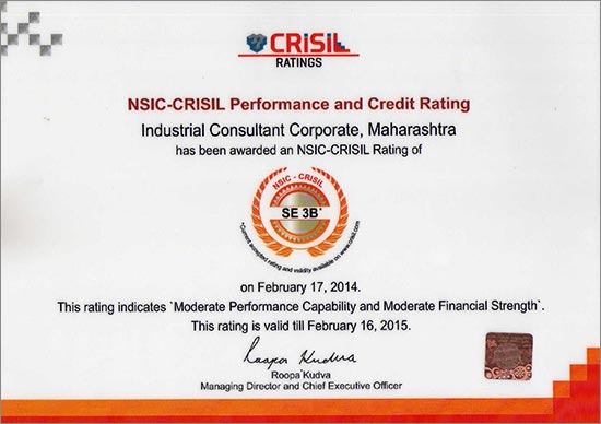 NSIC CRISIL Rating Certificate