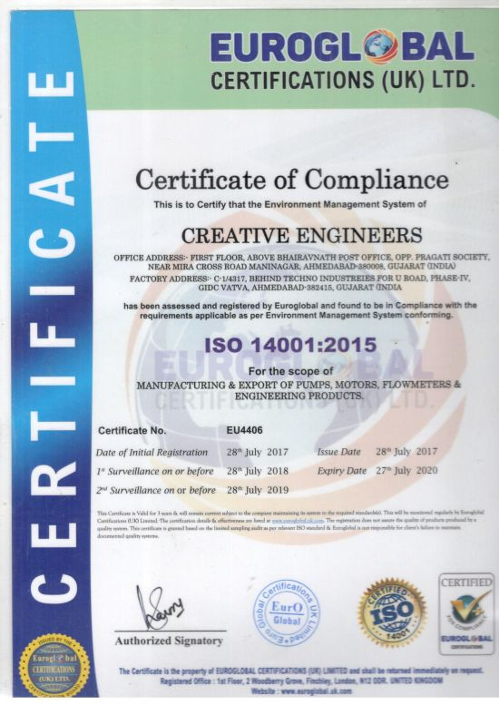 ISO 140001 Certificate