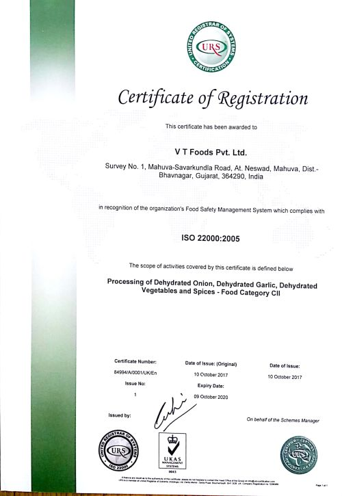 ISO Certificate 2005