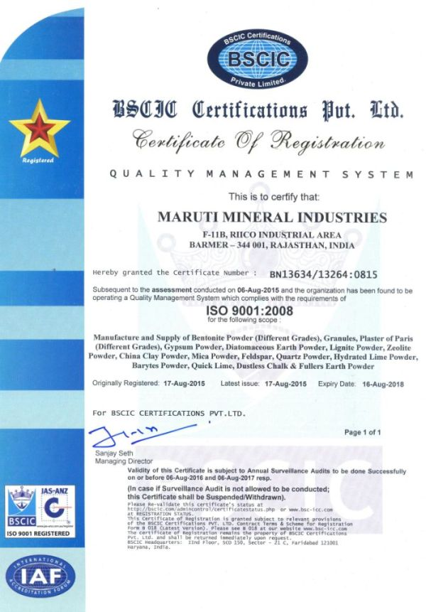 ISO 9001 : 2008 Certificate 03