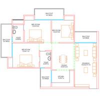 Vasundhra-3-BED-ROOM