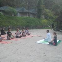 Yoga at camp Side