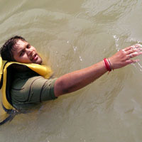 Swimming In Ganga River