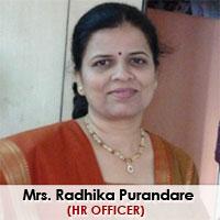 Mrs. Radhika Purandare.   Hr. Officer