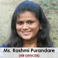 Ms. Rashmi Purandare, Hr. Officer