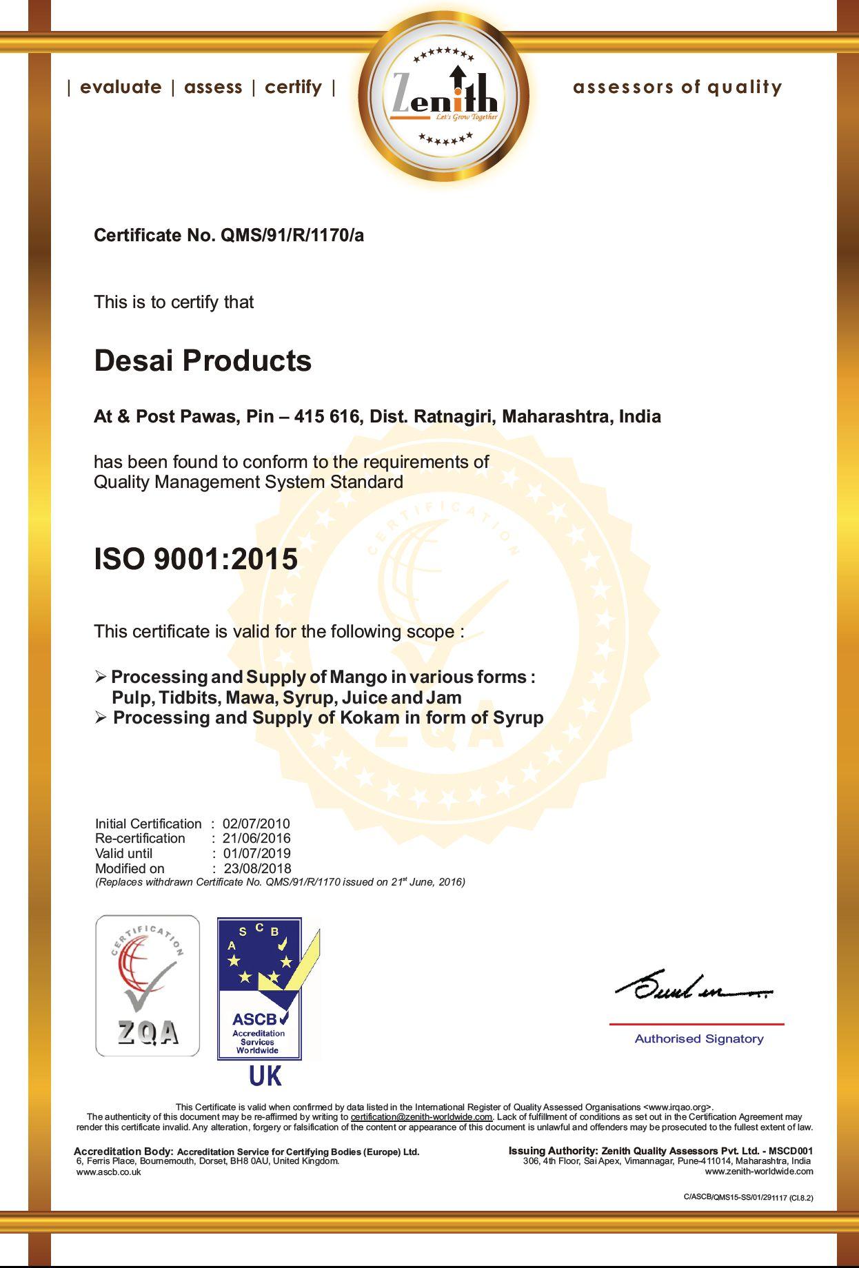 ISO 9001 ASCB