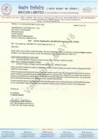 Vendor Registration Certificate