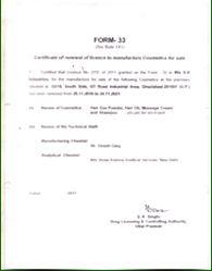 Manufacturing Certificate