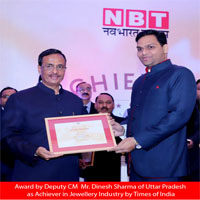 Uttar Pradesh Achiever Award by Deputy CM Mr. Dinesh Sharma