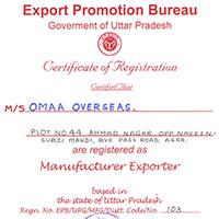 Export Promotion Bureau Certificate