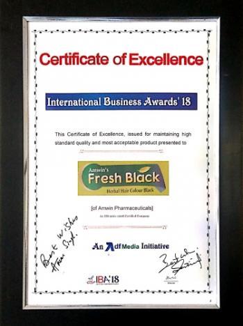 International Business Awards, 2018 Certificate