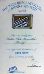 TATA Certificate