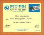 Zenith Certificate