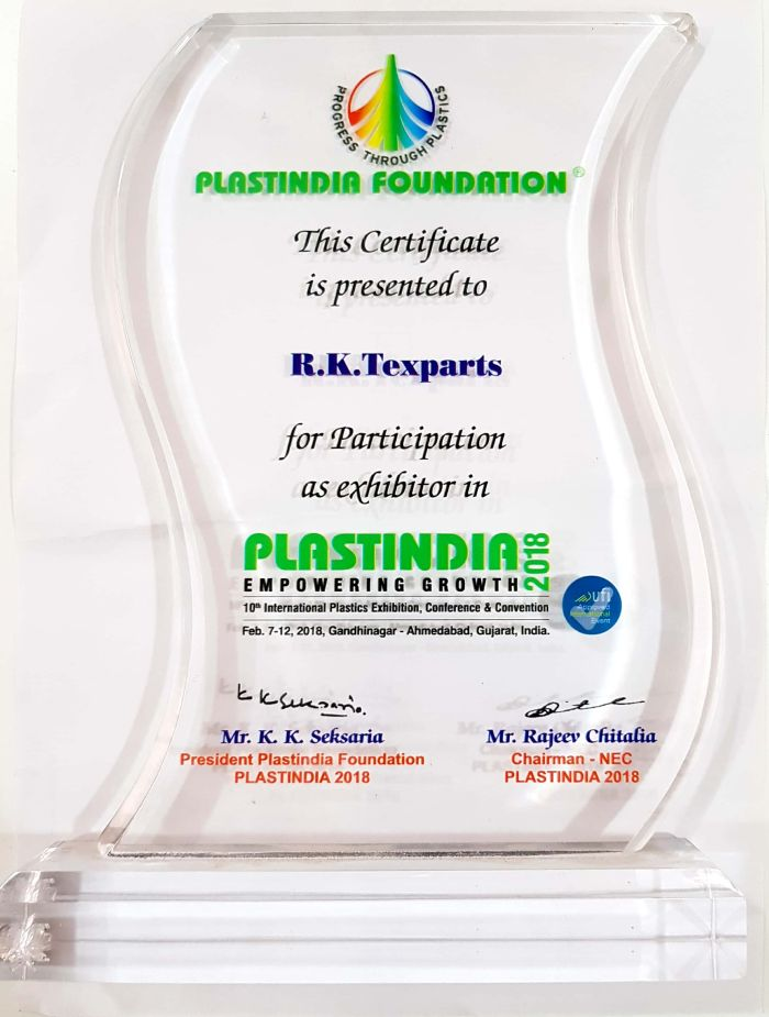 Certificate of Plast India Foundation