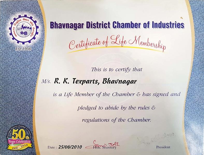 Certificate of Life Membership