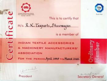Certificate of Ordinary Member