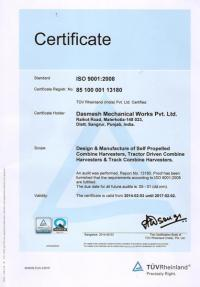 ISO Certified by TUV Germany 01
