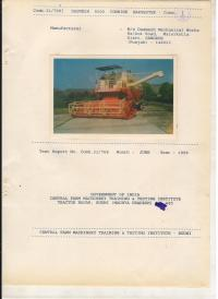 Test Report Self Combine Harvester (9100)