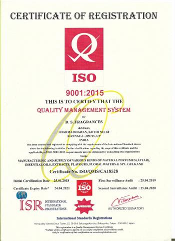ISO Certificate (9001 - 2015)