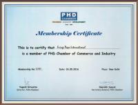 PHD Chamber Certificate