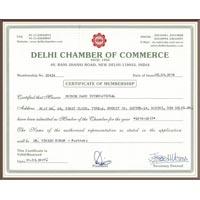 Delhi Chamber Certificate