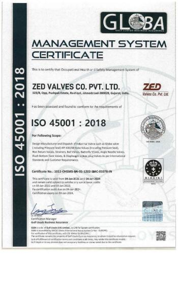 ISO 45001-2018 Certificate