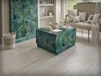 Wall and Centring Table of Green Jasper