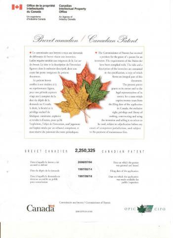 Canadian Patent