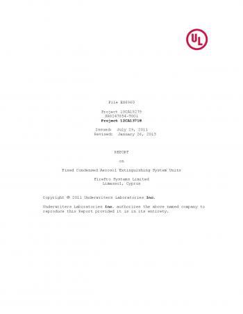 UL listing Certificate 02