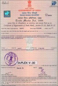 Trade Mark Registry Duplex V-30