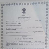 Dirba Certificate of Incorporation