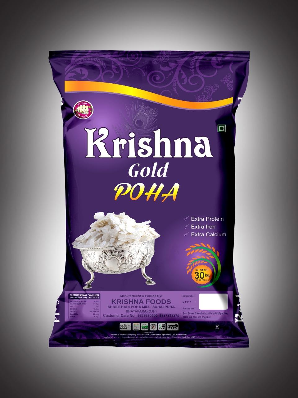 Krishna Gold Poha = 30 Kg