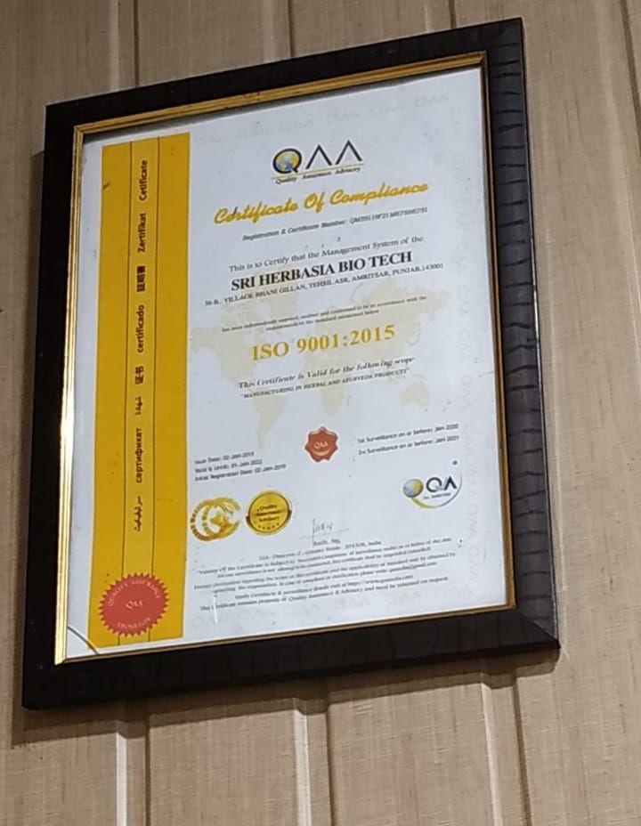 Compliance Certificate