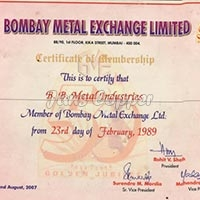 Bombay Metal Exchange Member Since - 1989