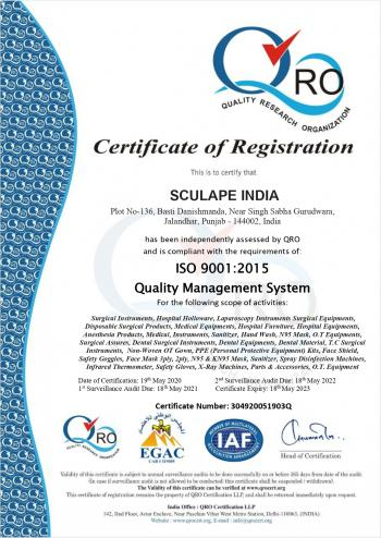 SCULAPE INDIA QRO EGAC 9001