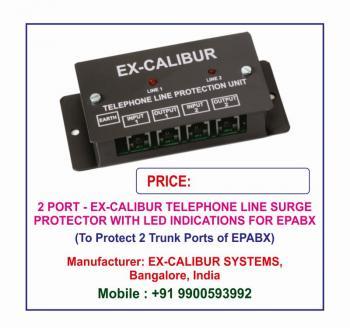 Ex-Calibur EPABX Surge Protector with LED Indications Lightning