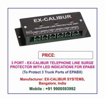 Ex-Calibur PBX Surge Protector with LED Indications Lightning