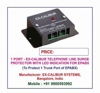 Ex-Calibur Telephone SPD with LED Indications Lightning
