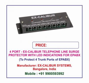 Ex-Calibur VOICE LOGGER Surge Protector with LED Indications Lightning