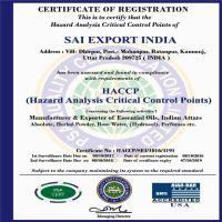 Sai Export India  ISO HACCP