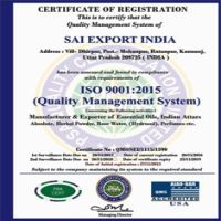 Sai Export India Kanpur ISO 9001-2015
