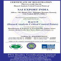 Sai Export India Kanpur ISO HACCP