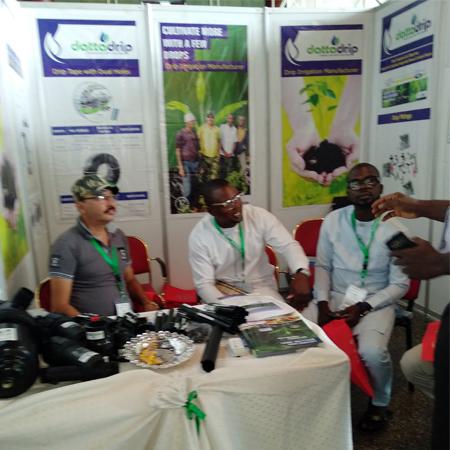 Datta Drip Team At Nigeria Exhibition