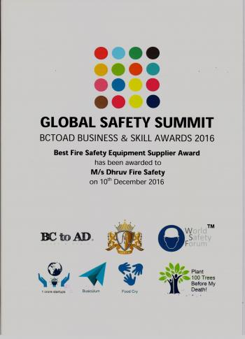 Award Certificate Global Safety