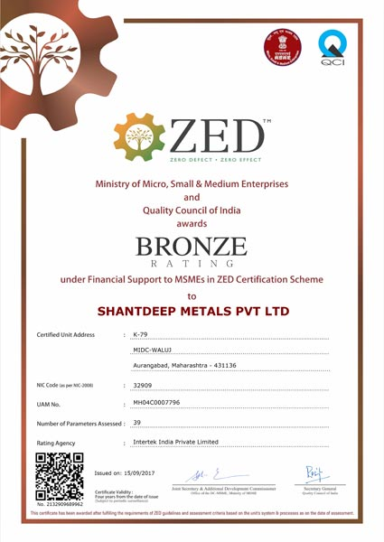 ZED Certificate