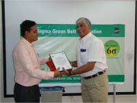 Mr. I.A.Patil received the Six Sigme Green Belt Certificate