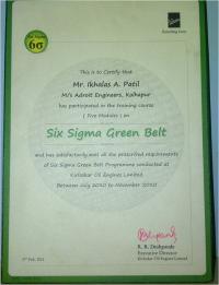 Six Sigma Certificate